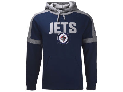 Winnipeg Jets NHL Men's Iconic Color Blocked Pullover Hoodie