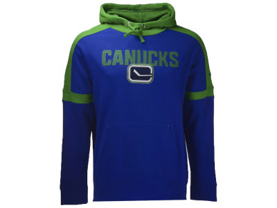 Vancouver Canucks NHL Men's Iconic Color Blocked Pullover Hoodie