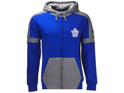 Toronto Maple Leafs NHL Men's Iconic Color Blocked Full Zip Hoodie