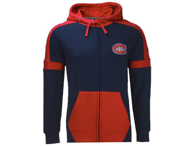 Montreal Canadiens NHL Men's Iconic Color Blocked Full Zip Hoodie