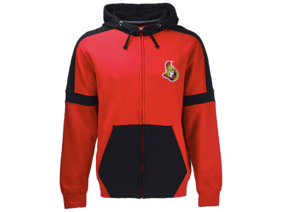 Ottawa Senators NHL Men's Iconic Color Blocked Full Zip Hoodie
