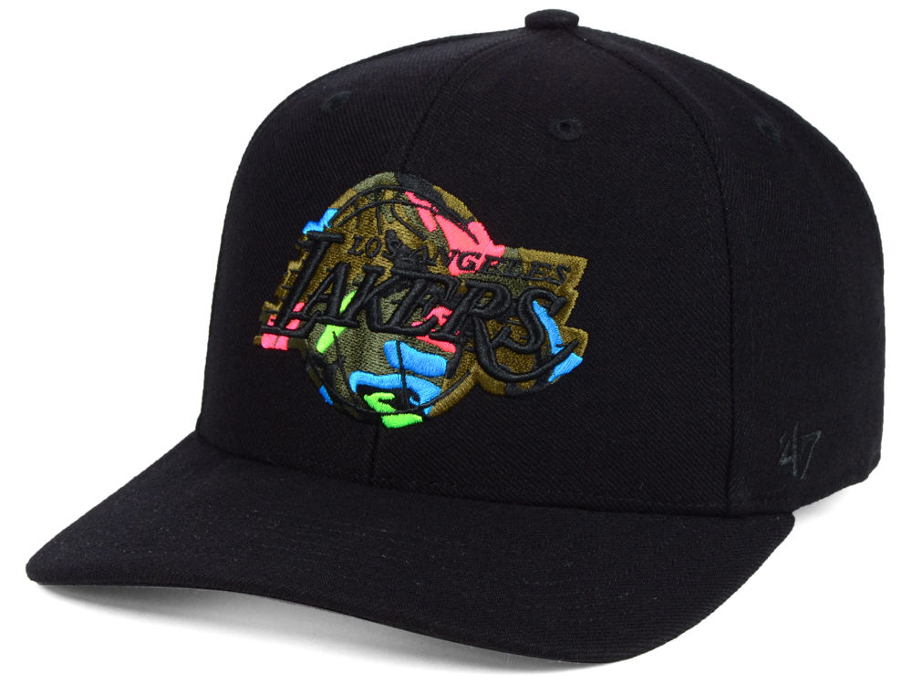 28a44fb9dd1 Los Angeles Lakers  47 NBA Camfill Neon Cap