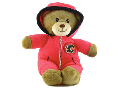 Calgary Flames Jumpsuit Bear - 8""
