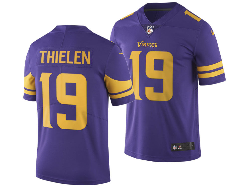 Minnesota Vikings Adam Thielen Nike NFL Men s Limited Color Rush Jersey  af12717e1