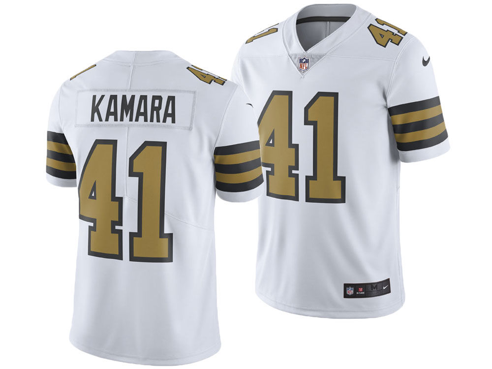 New Orleans Saints Alvin Kamara Nike NFL Men s Limited Color Rush Jersey  9ed07e553