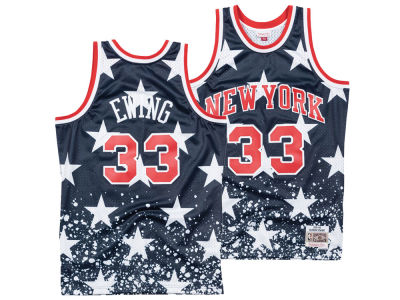 New York Knicks Patrick Ewing Mitchell & Ness NBA Men's The 4th Swingman Jersey
