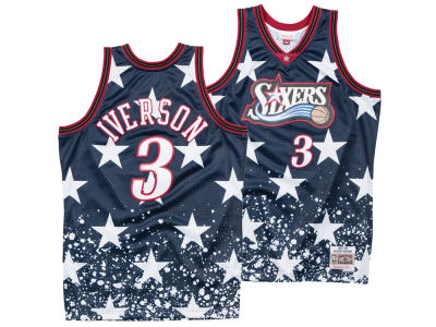 new product a0914 8df37 Philadelphia 76ers Allen Iverson Mitchell   Ness NBA Men s The 4th Swingman  Jersey