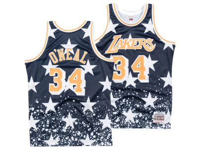 Los Angeles Lakers Shaquille O'Neal Mitchell & Ness NBA Men's The 4th Swingman Jersey