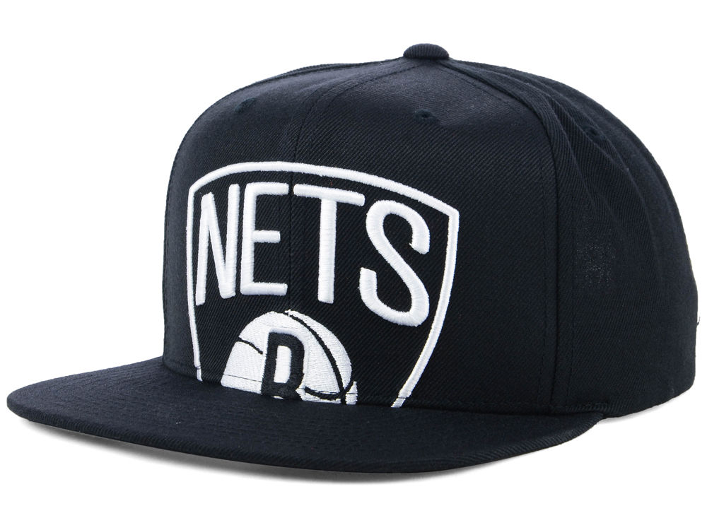 pretty nice 883b8 5ce7c ... italy brooklyn nets mitchell ness nba cropped xl logo snapback cap  0a28a 1bbf9