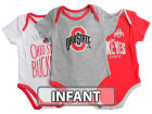 Ohio State Buckeyes Outerstuff NCAA Infant Lil Tailgater 3 Piece Set Infant Apparel