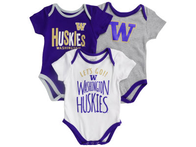 Washington Huskies Outerstuff NCAA Newborn Lil Tailgater 3 Piece Set