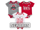 Ohio State Buckeyes Outerstuff NCAA Newborn Lil Tailgater 3 Piece Set Infant Apparel