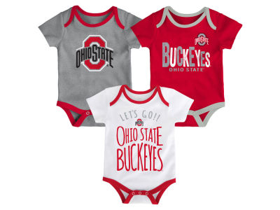 Ohio State Buckeyes Outerstuff NCAA Newborn Lil Tailgater 3 Piece Set