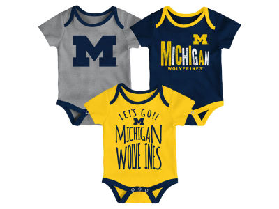 Michigan Wolverines Outerstuff NCAA Newborn Lil Tailgater 3 Piece Set