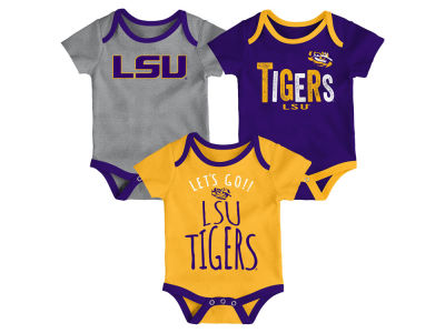 LSU Tigers Outerstuff NCAA Newborn Lil Tailgater 3 Piece Set