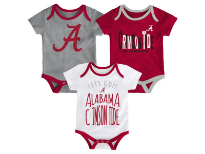 Alabama Crimson Tide Outerstuff NCAA Newborn Lil Tailgater 3 Piece Set