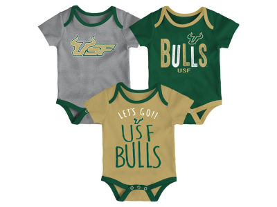South Florida Bulls Outerstuff NCAA Newborn Lil Tailgater 3 Piece Set
