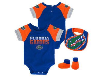 Florida Gators Outerstuff NCAA Newborn Dash Bib & Bootie Set