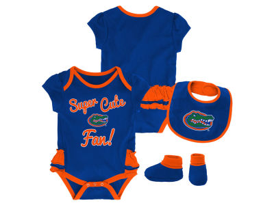 Florida Gators Outerstuff NCAA Newborn Girls Trifecta Bib Set