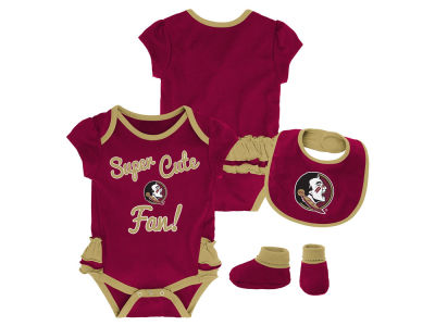 Florida State Seminoles Outerstuff NCAA Newborn Girls Trifecta Bib Set