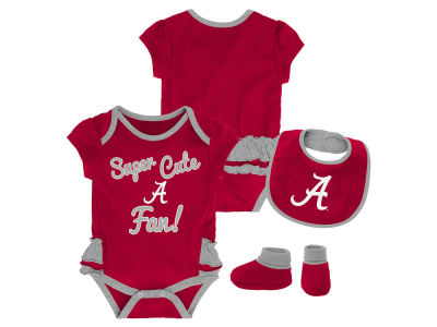 Alabama Crimson Tide Outerstuff NCAA Newborn Girls Trifecta Bib Set
