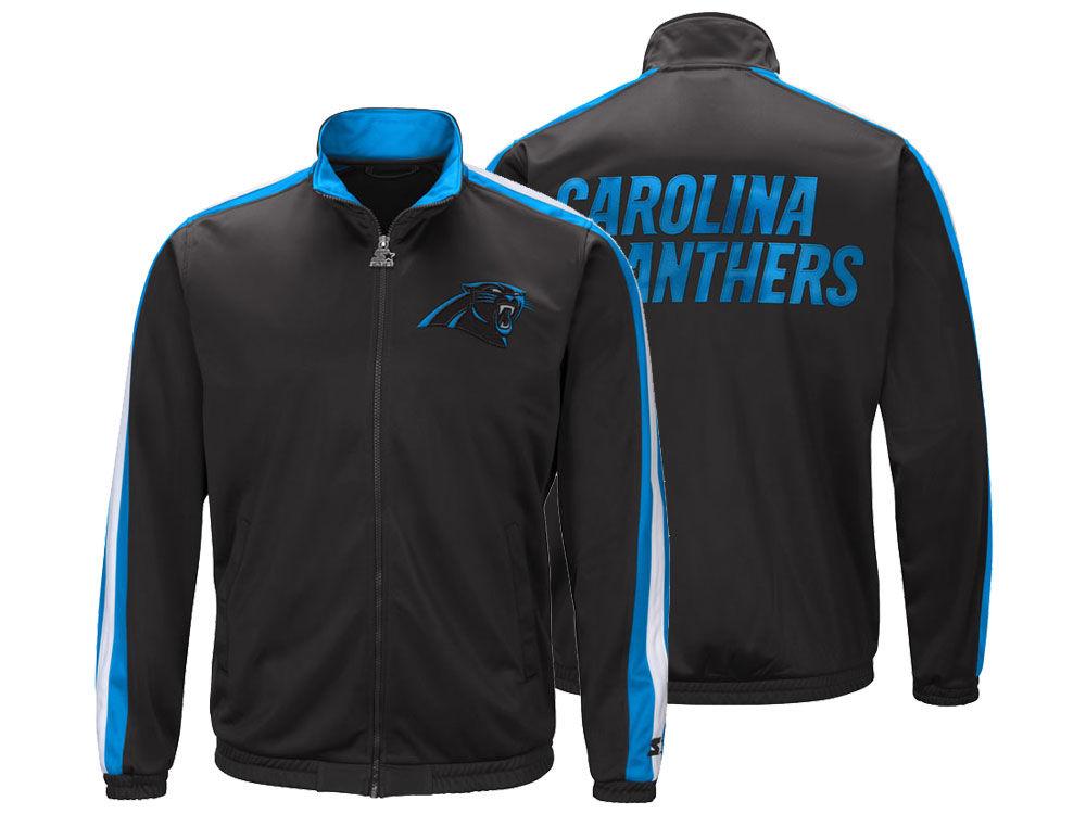 Carolina Panthers Starter NFL Men s The Challenger Track Jacket ... 2b8279d0f