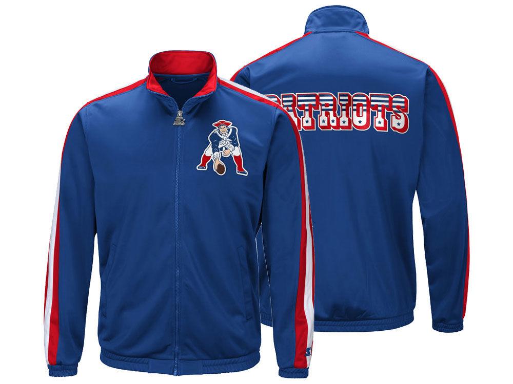 New England Patriots Starter NFL Men s The Challenger Track Jacket ... 851ea5d9d