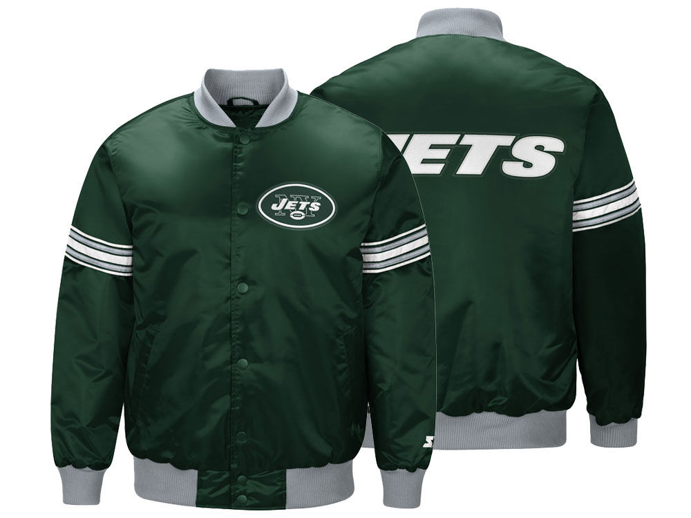 New York Jets Starter NFL Men s Draft Pick Satin Jacket  d15c8d00d