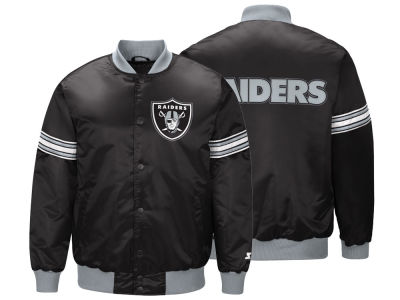 fff043704 Oakland Raiders Starter NFL Men s Draft Pick Satin Jacket