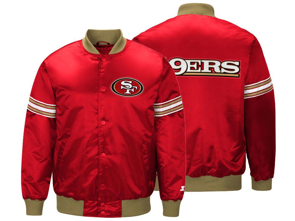 San Francisco 49ers Starter NFL Men s Draft Pick Satin Jacket  56ab20645dc2