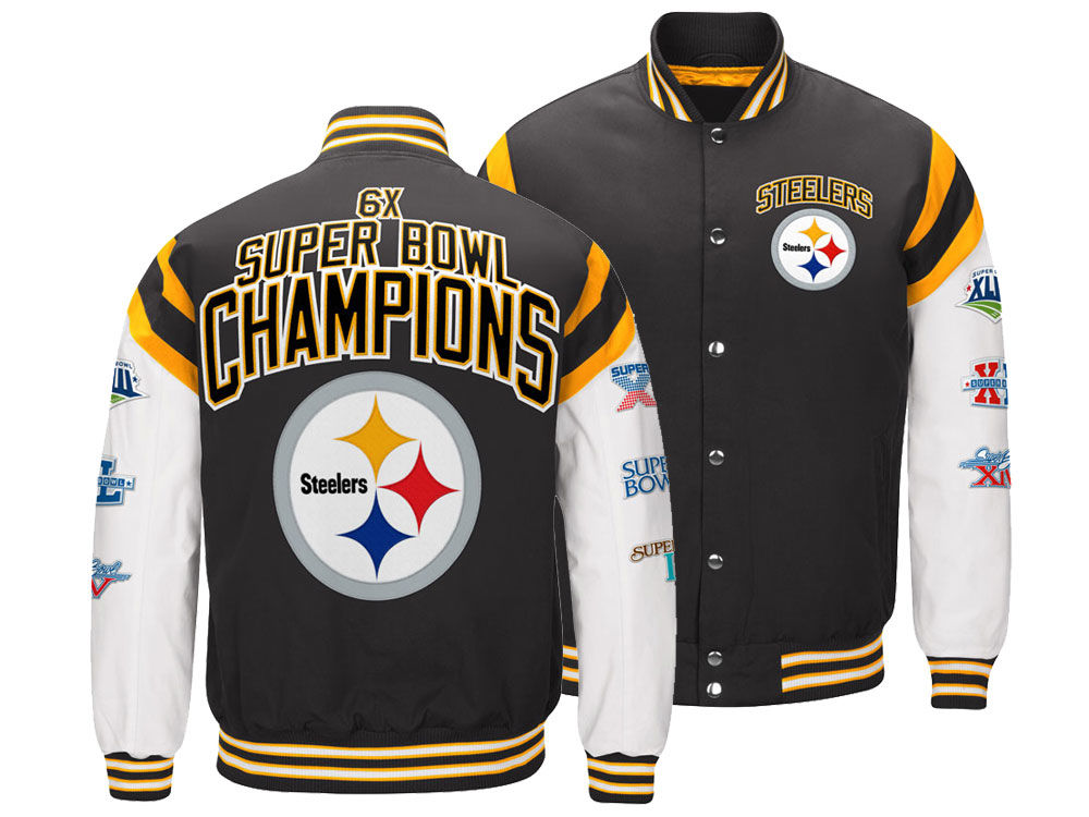 Pittsburgh Steelers G-III Sports NFL Men s Home Team Varsity Jacket ... a11a843c462a