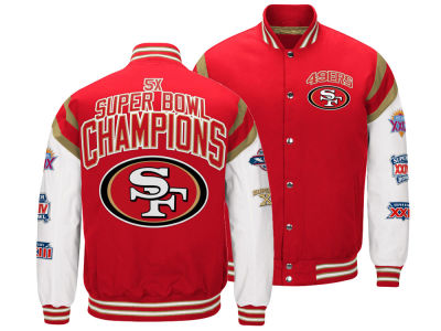San Francisco 49ers G-III Sports NFL Men's Home Team Varsity Jacket