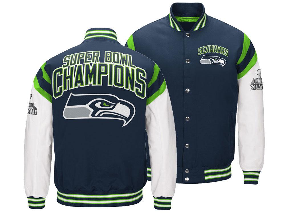 Seattle Seahawks G-III Sports NFL Men s Home Team Varsity Jacket ... f85030f6b