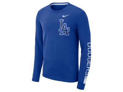 Los Angeles Dodgers Nike MLB Men's Cotton Stadium Long Sleeve T-Shirt