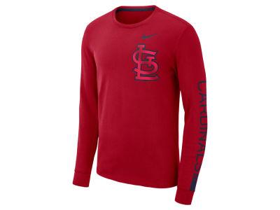 8cdc479f5 St. Louis Cardinals Nike MLB Men s Cotton Stadium Long Sleeve T-Shirt