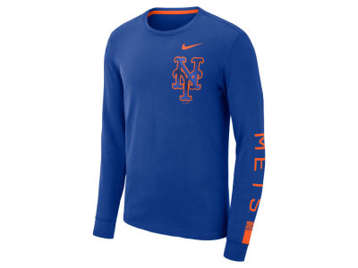 New York Mets Nike MLB Men's Cotton Stadium Long Sleeve T-Shirt