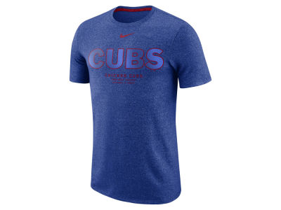 Chicago Cubs Nike MLB Men's Marled Stadium T-Shirt