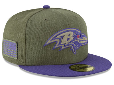 Baltimore Ravens New Era 2018 NFL Salute To Service 59FIFTY Cap