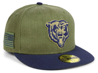 Chicago Bears New Era 2018 NFL Salute To Service 59FIFTY Cap