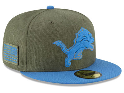 Detroit Lions New Era 2018 NFL Salute To Service 59FIFTY Cap