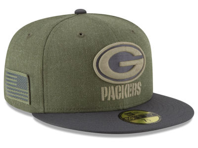 Green Bay Packers New Era 2018 NFL Salute To Service 59FIFTY Cap