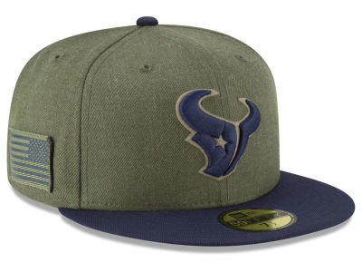 3c39b838894 Houston Texans New Era 2018 NFL Salute To Service 59FIFTY Cap