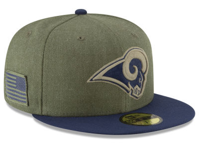 Los Angeles Rams New Era 2018 NFL Salute To Service 59FIFTY Cap