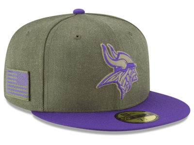 Minnesota Vikings New Era 2018 NFL Salute To Service 59FIFTY Cap 40ddc49d7