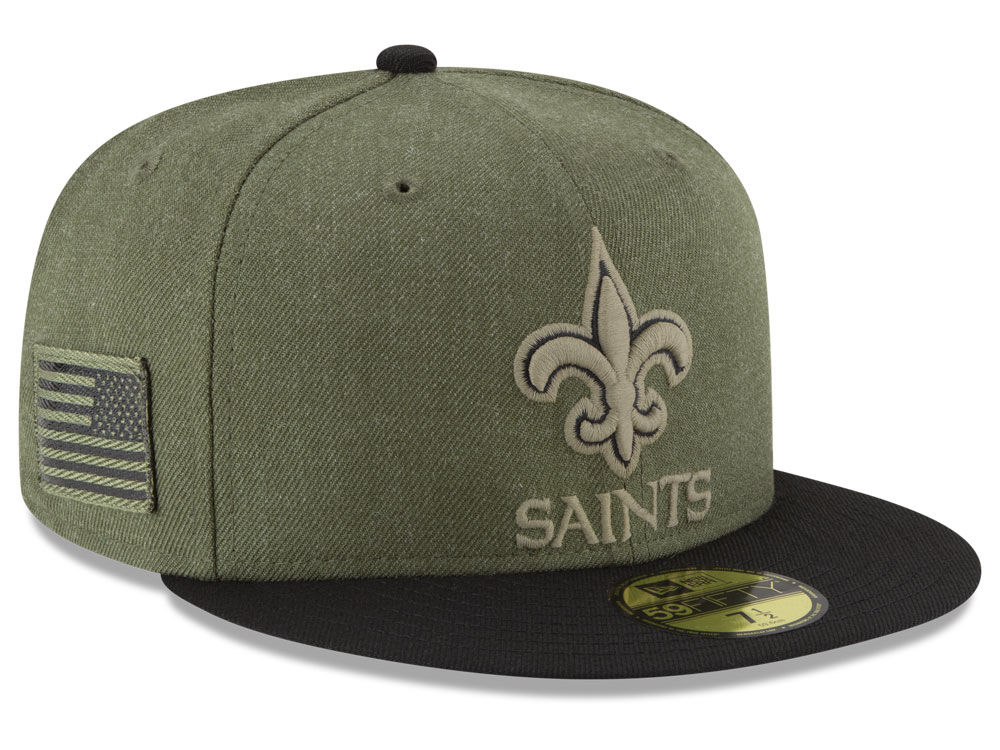 New Orleans Saints New Era 2018 NFL Salute To Service 59FIFTY Cap ... 0fa3dcecae