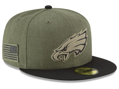 Philadelphia Eagles New Era 2018 NFL Salute To Service 59FIFTY Cap