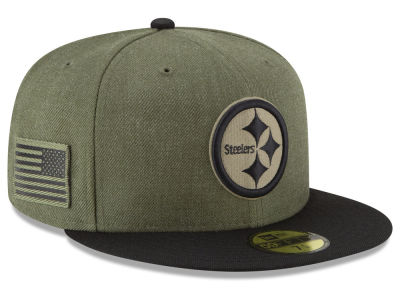 Pittsburgh Steelers New Era 2018 NFL Salute To Service 59FIFTY Cap
