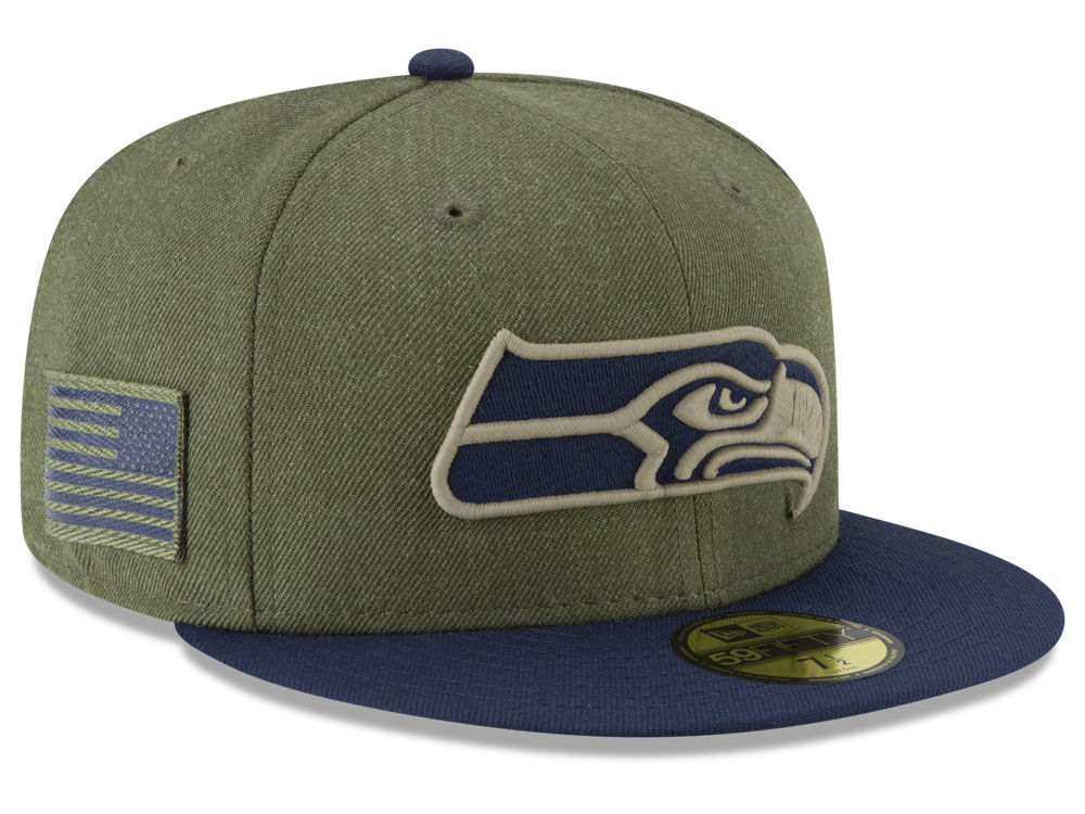 Seattle Seahawks New Era 2018 NFL Salute To Service 59FIFTY Cap ... 7ad33ed7afce