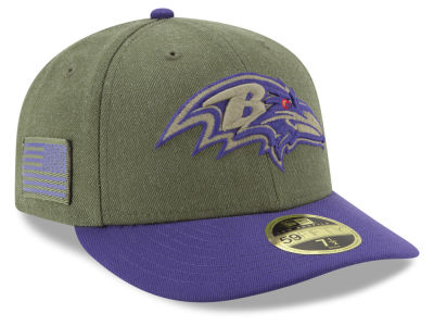 Baltimore Ravens New Era 2018 NFL Salute To Service Low Profile 59FIFTY Cap