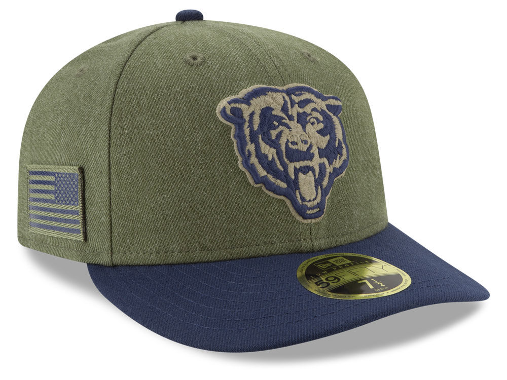 ... best price chicago bears new era 2018 nfl salute to service low profile 59fifty  cap 956dd ... 3782062b6